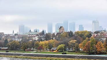 Warszawa. Widok na centrum miasta