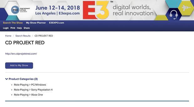 CD Projekt na konferencji E3