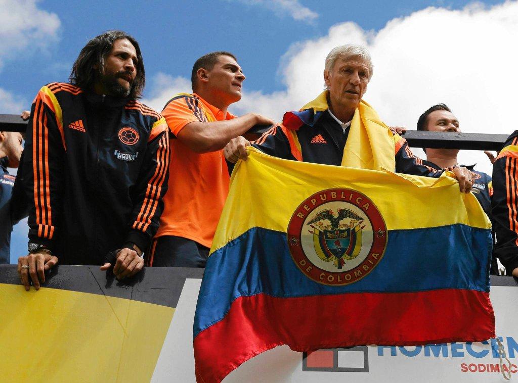 Mario Yepes, Farid Mondragon i trener Jose Pekerman.