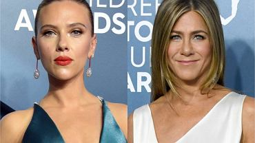 SAG Awards 2020. Jennifer Aniston podkreśliła figurę satyną, Scarlett Johansson postawiła na dekolt. Pięknych sukni nie brakowało