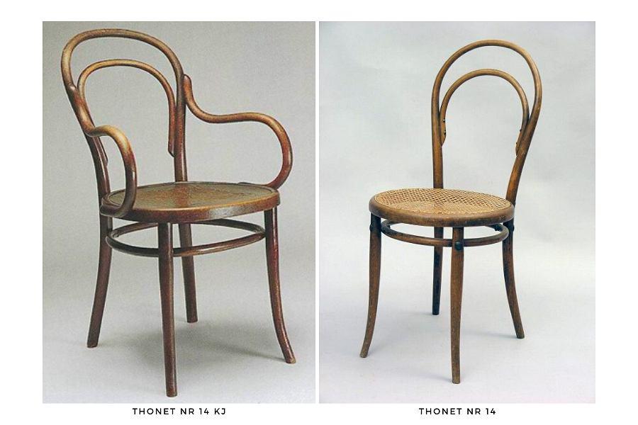 Kultowe krzesła gięte Thonet: modele nr 14 i 14 KJ
