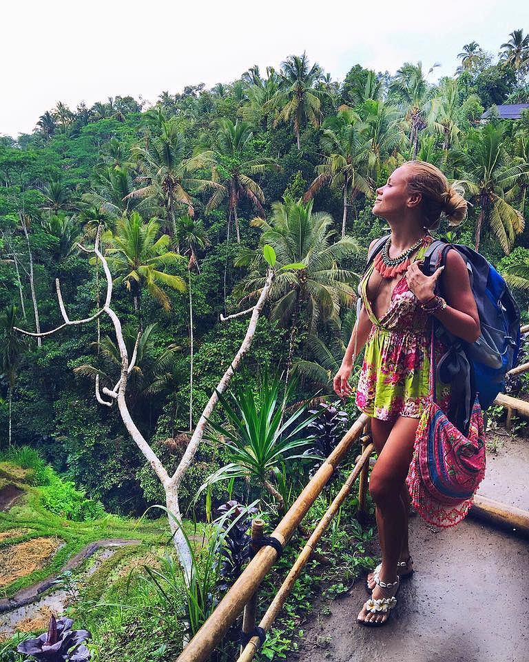 Anna Skura (What Anna Wears) w czasie podróży na Bali