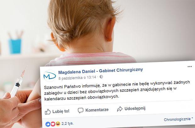 Lekarka odmawia leczenia nieszczepionych dzieci. Komentarze: Niech idą do Zięby czy innego zielarza