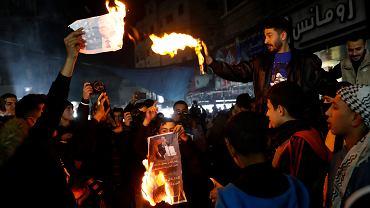 Palestyńczycy protestują po propozycji Trumpa