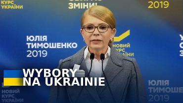 Julia Tymoszenko na konferencji prasowej po ogłoszeniu wyników sondaży