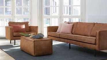 Trzyosobowa sofa, fotel i pufa Rodeo od marki Bu Pure Home