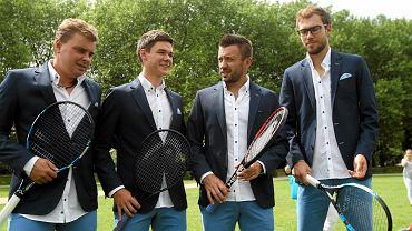 Od lewej: Marcin Matkowski, Kamil Majchrzak, Michał Przysiężny i Jerzy Janowicz. Trzej pierwsi zagrają w turnieju BNP Paribas Sopot Open 2019