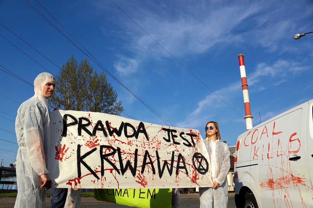 Akcja Extinction Rebellion w Warszawie