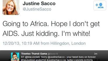 Tweet Justine Sacco