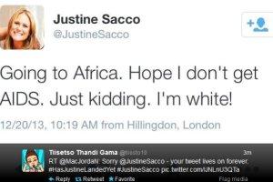 """""""Jadę do Afryki. Mam nadzieję, że nie złapię AIDS"""". Justine Sacco - autorka tych słów - została zwolniona z pracy. Teraz przeprasza"""