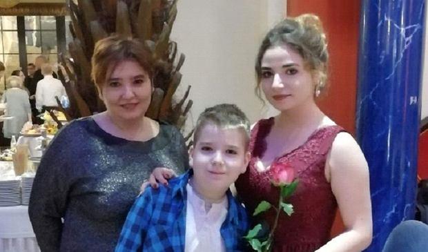 Agnieszka Makowska z dziećmi, Agnieszką i Filipem
