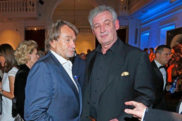 Jan Kulczyk i Waldemar Dąbrowski na premierze