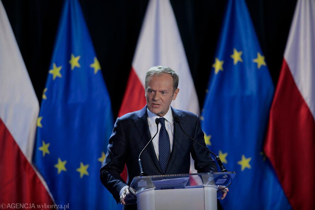 Donald Tusk na Uniwersytecie Warszawskim. Przemówienie byłego premiera