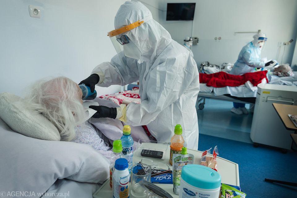 Pandemia koronawirusa. Wojewódzki Specjalistyczny Szpital Chorób Płuc i Gruźlicy przemianowany na szpital jednoimienny dla osób zakażonych COVID-19. Wolica k/ Kalisza, 14 maja 2020