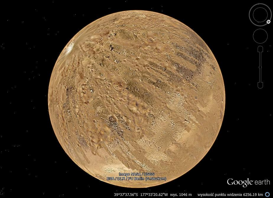 Mars w Google Earth