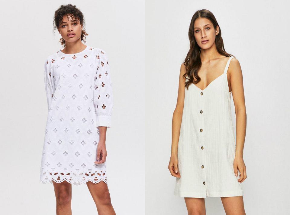 Białe, letnie sukienki