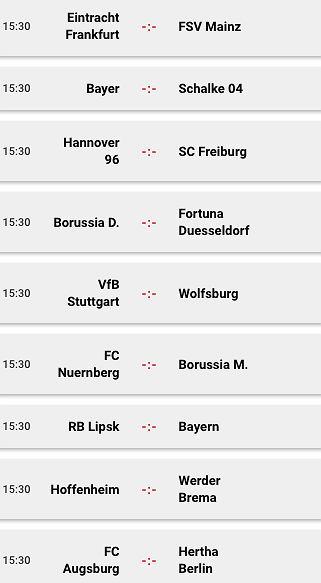 Bundesliga - sobotnie mecze