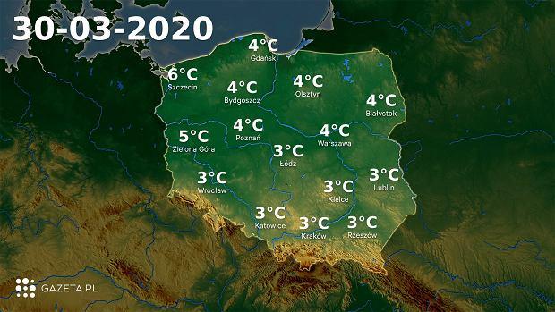 Pogoda na dziś - poniedziałek 30 marca