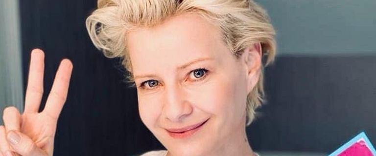 """Małgorzata Kożuchowska pokazała tapetę w swoim domu. """"Jak droga do nieba"""""""