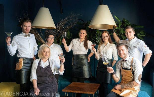 Szefowa kuchni restauracji Amfora i Cadenza w Katowicach wraz zespołem