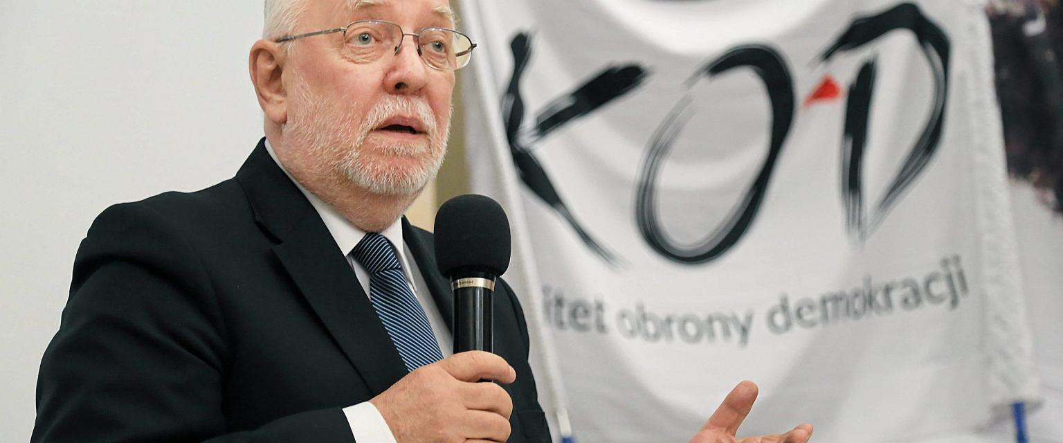 Były prezes TK, sędzia Jerzy Stępień (fot. Agnieszka Sadowska/AG)