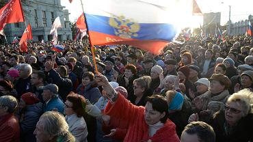 Pro rosyjscy demonstranci na Krymie