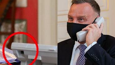 Andrzej Duda rozmawiał z królem Jordanii przez niepodłączony telefon?