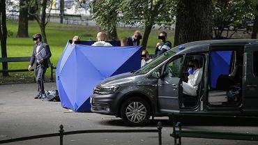 Kraków: morderstwo na Plantach. Nie żyje 62-letni mężczyzna zaatakowany nożem