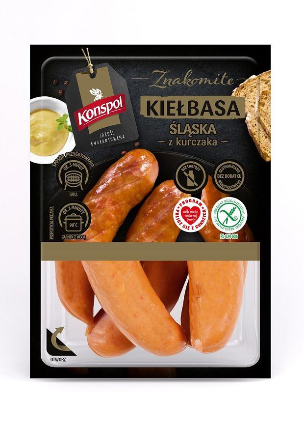 Kiełbasa śląska z kurczaka marki Konspol