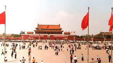 Plac Tiananmen w 1988 roku