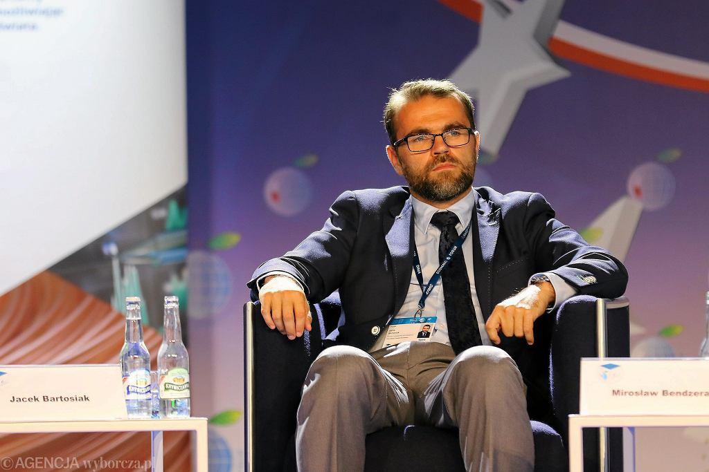 Pierwszy prezes CPK Baranów Jacek Bartosiak podczas XXVII forum Ekonomicznego. Krynica Zdrój, 5 września 2017