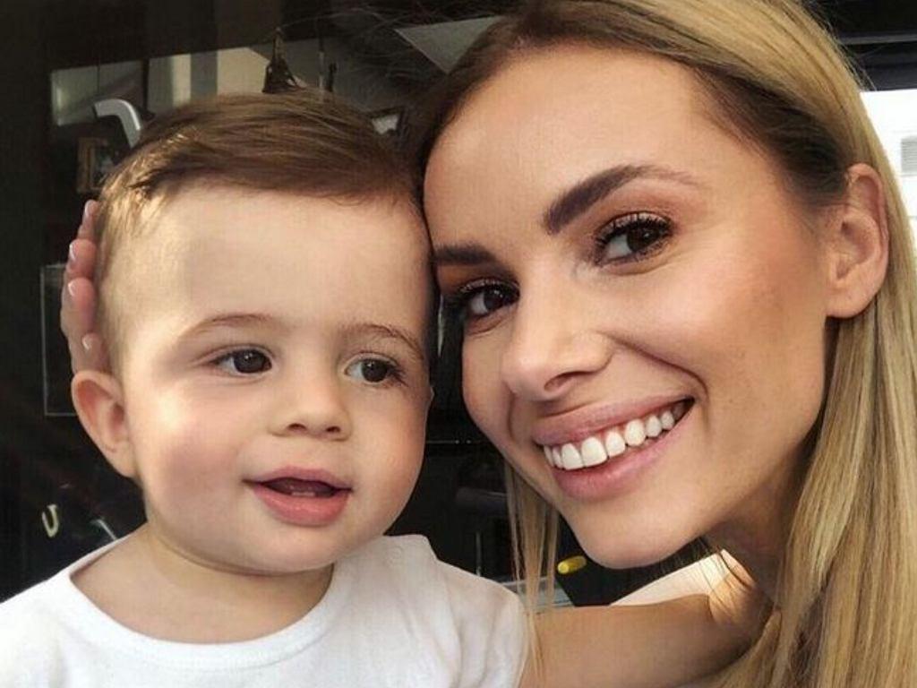 Izabela Janachowska z synem