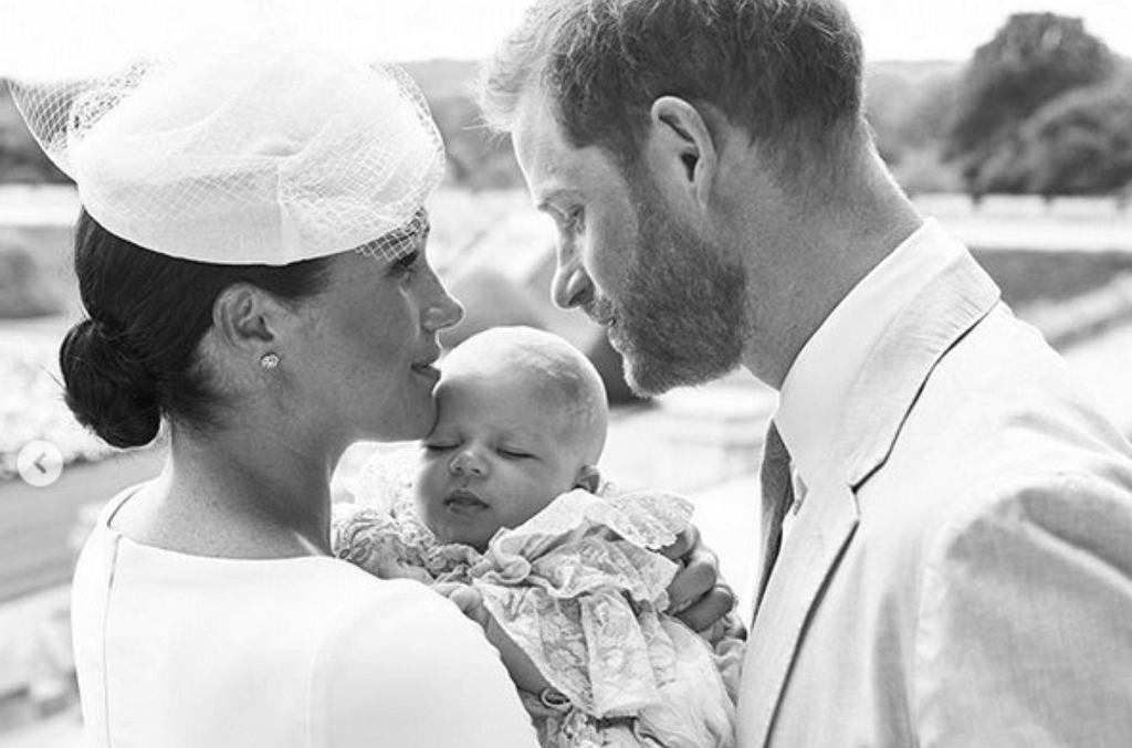 Meghan i Harry z dzieckiem