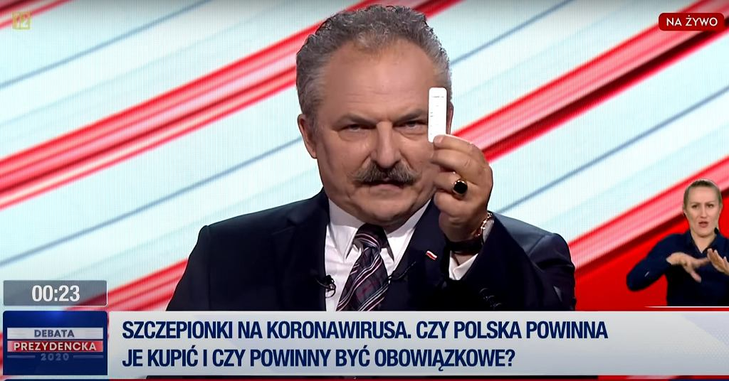 Marek Jakubiak w debacie TVP
