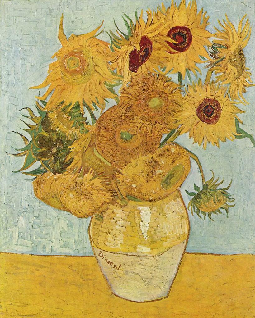 Słoneczniki Vincenta van Gogha - obraz bezcenny, czyli 'nieoceniony'. Chyba nikt nie powie, że jest 'nieznany'