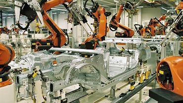 Roboty KUKA w fabryce BMW w Lipsku