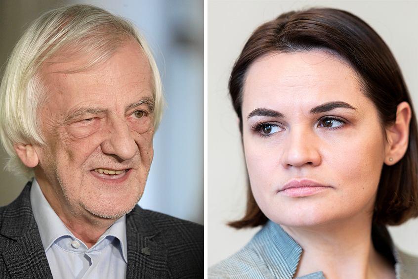 Ryszard Terlecki i Swiatłana Cichanouska