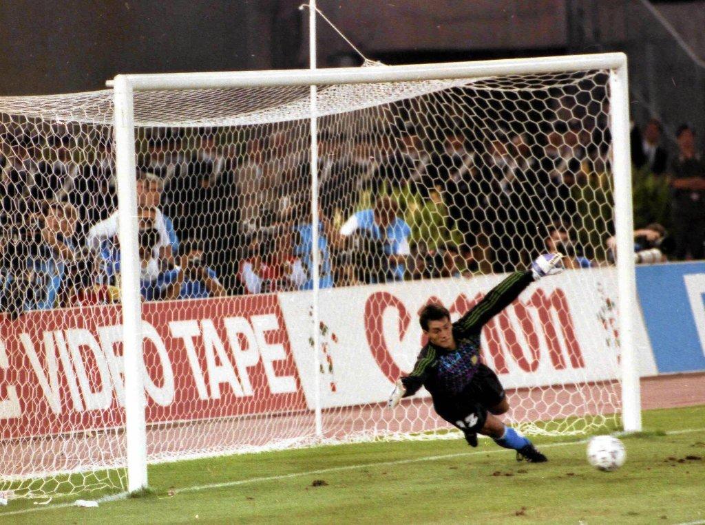 Wykorzystany rzut karny przez Andreasa Brehme w finale MŚ 1990
