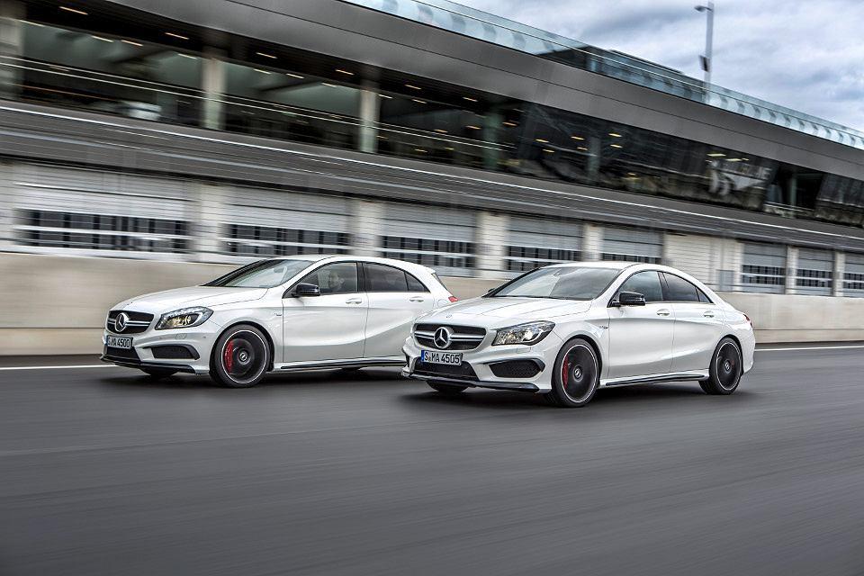 Mercedes A 45 AMG i CLA 45 AMG