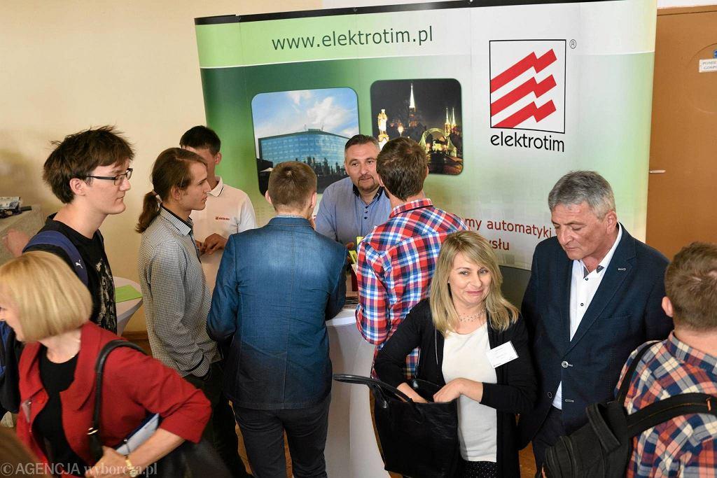 Konferencja 'Zawodowcy' zorganizowana w 2017 r. przez 'Gazetę Wyborczą' w Zespole Szkół Teleinformatycznych i Elektronicznych
