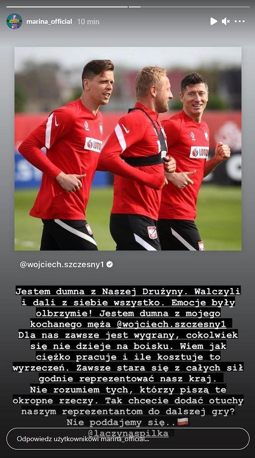 Marina zabrała głos w sprawie Wojciecha Szczęsnego