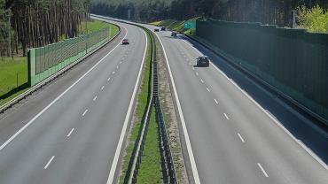 Droga S3 w okolicach Zielonej Góry.