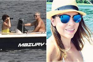 Aleksandra Kwaśniewska w bikini wygląda bardzo sexy. Była pierwsza dama, Jolanta Kwaśniewska, z odkrytymi ramionami nie odrywa wzroku od lornetki, a były prezydent z nagim torsem steruje łódką. Tak na Mazurach wypoczywa klan Kwaśniewskich.