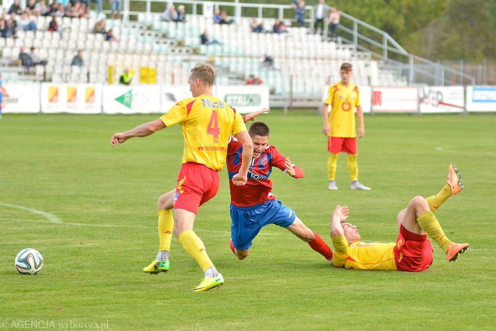 Raków Częstochowa - Znicz Pruszków 1:1, II liga, październik 2015 r.