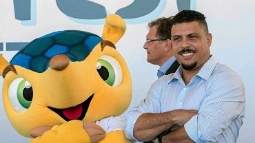 Ronaldo i maskotka Mundialu 2014
