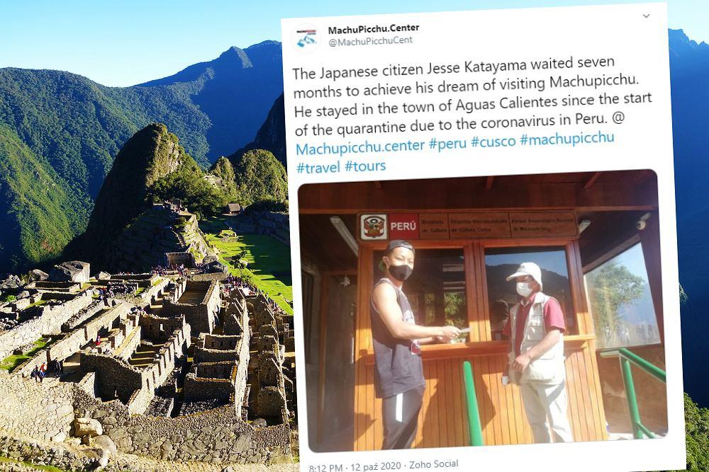 Japoński turysta czekał siedem miesięcy na zwiedzenie Machu Picchu. Otworzyli je tylko dla niego