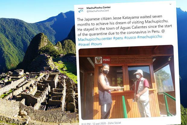 Otworzyli Machu Picchu dla jednego turysty. Czekał na to siedem miesięcy