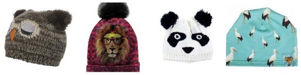 Zimowe czapki ze zwierzakami