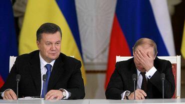 Wiktor Janukowycz i Władimir Putin w trakcie spotkania w Moskwie