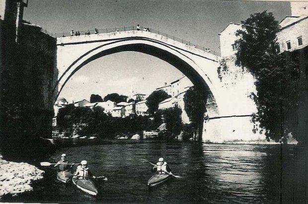 Most Kurdet Kederina Neretwie, Jugosławia '76 fot. archiwum Bystrza